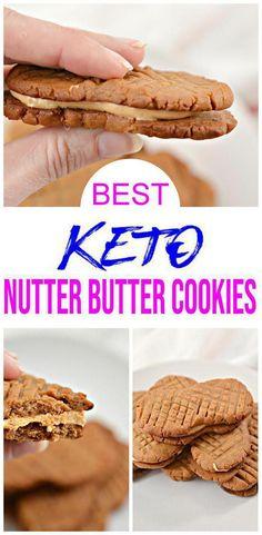 Sugar Free Desserts, Bbq Desserts, Healthy Desserts, Summer Desserts, Keto Peanut Butter Cookies, Keto Cookies, Nutter Butter, Ketogenic Desserts, Ketogenic Diet