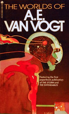 "Great cover for ""The Worlds of A.E. Van Vogt,"" signed B. Forbes."