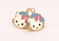 Hello Kitty 14k Cat Ring Girl Gold Ring Children Ladies Pop