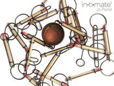 "Velvet da Vinci Page aimée · 10 h · Modifié ·    Jo Pond: Intimate through September 20  ""Phillumeny"" Necklace, Suspended in Pink series Silver, match sticks, steel, tin, tiddley-wink http://velvetdavinci.bigcartel.com/"