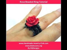 How to Make Rose Beaded Ring - http://videos.silverjewelry.be/rings/how-to-make-rose-beaded-ring/
