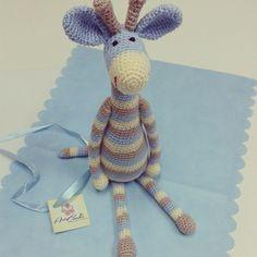 girafa de crochê