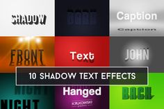 Shadow Text Effect by @Graphicsauthor