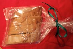 A gift of homemade Pecan Pie Biscotti