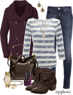 """""""blue & purple casual"""" by enjoytheview on Polyvore"""