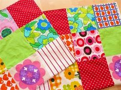 Quilt made by Jane Foster using Scandinavian and vintage 70s cottons