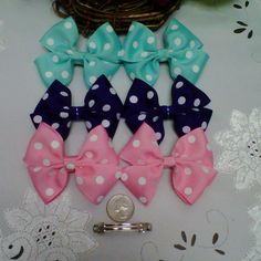 Handmade Boutique Style Double Hair Bow Assortment Set by Tu2Rific, $5.25