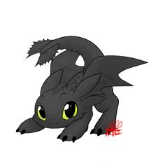 toothless by The-TAE.deviantart.com on @deviantART