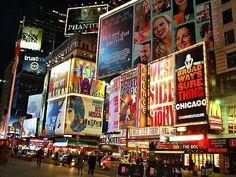 Take me where the street lights glow. New York