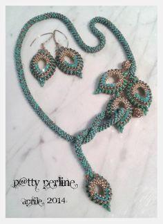 P@tty Perline: Eastern BlueBird (Sialia sialis) necklace and earrings
