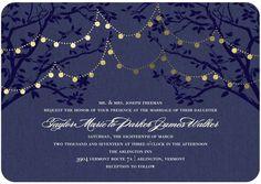 Enlightened Evening - Signature Foil Wedding Invitations - Jenny Romanski - Ash - Gray : Front