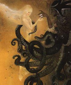 Juxtapoz Magazine - Nadezhda Illarionova's Dark Fairy Tales