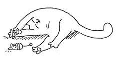 idea: Simon's cat (sleepy kitty) image