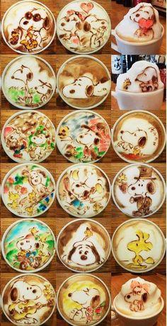 Color latte art. Amazing!