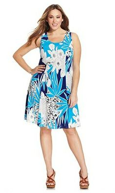 Plus Size Spring Fashion http://bigcurvylove.com/2014/04/29/plus-size-spring-fashion-bethenny-frankel/  #plussize #spring #dress #fashion