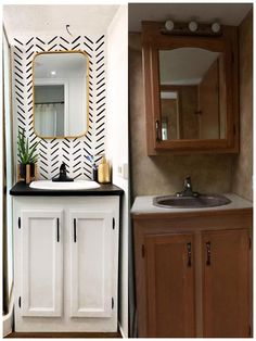 Rv Interior Remodel, Camper Renovation, Camper Interior, Diy Camper, Home Interior, Camper Life, Camper Ideas, Rv Life, Camper Bathroom