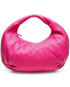 776783d2f005 Bottega Veneta  A chic and stylish women s bag in a hot pink basket weave  pattern