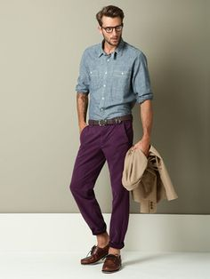normally I'm generally opposed to purple pants. but this guy looks good.