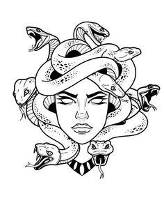 Minimal Tattoo Design, Medusa Tattoo, Tattoo Designs Men, Sleeve Tattoos, Tattoo Drawings, Tattoo Stencils, Tattoo Designs, Simple Tattoo Designs, Hugging Drawing