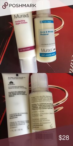 🌺MURAD BUNDLE🌺 Perfecting night cream, Acne Wrinkle Reducer. New never use. Other