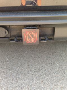 Monogrammed Car Hitch Cover by MadiLouDesigns on Etsy, $25.00