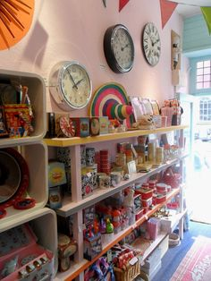 Ruby Rockcake shop display, Lyme Regis, UK