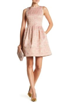 Daytime Fit & Flare Pleated Dress