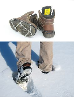 Titan Chain Slip-On Shoe Chains for Snow and Ice. Great for working and getting things done outside when it is chilly.