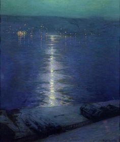Moonlight on the River by Birge Harrison