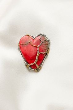 heart wrapped pendant by kristinasgems on Etsy, $20.00
