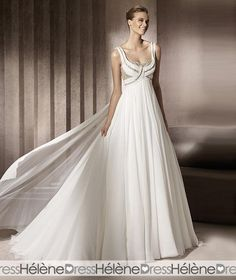 Gorgeous Empire Scoop Floor-Length Wedding Dresses 2012 Spring Trends - Wedding Dresses