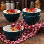 """The Pioneer Woman - 'Timeless Floral' Collection - 5.75"""" Latte Bowl Set, 4-Pack"""
