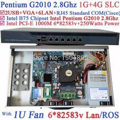 ==> [Free Shipping] Buy Best 1U rack Router Server with Intel Pentium G2010 2.8G 61000M 82583v Lan Wayos PFSense ROS 1G RAM 4G SLC Online with LOWEST Price | 32241274178