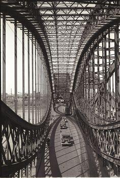 Norderelbbrücken. Foto Germin, 1950; © Museum der Arbeit