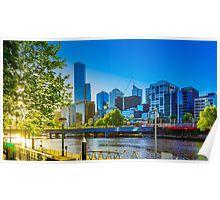 Springtime Sunset on the Yarra - Melbourne, Victoria Poster