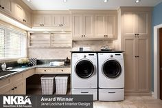 Laundry room with tons of cabinet space Organization | Closet Design | Eliminate Clutter | Jane Lockhart Interior Design