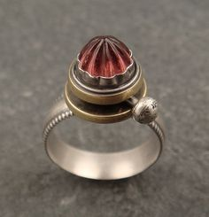Bezel detail - Chuck Domitrovich: sun and moon ring | Flickr - Photo Sharing!