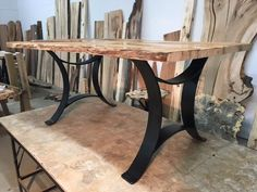 28 INCH TALL STEEL DINING TABLE BASE SET! Flat Black Golden Gate Metal Table Base! Dining Table Legs! 28 Inch Tall X 34 Inch Wide! O-158