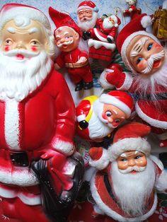vintage Santas!