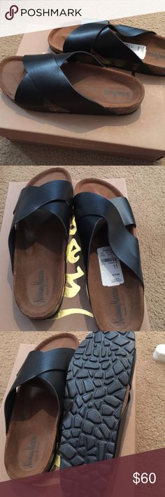 Sandals Brand new sandals with tag attach. Size is 11 but fits like a size 8 1/2 -9. Neiman Marcus Shoes Sandals