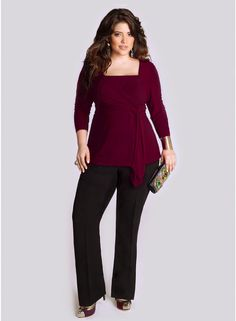 Luella Infinity Tunic in Fall Ruby