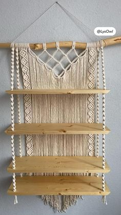 Yarn Crafts, Home Crafts, Arts And Crafts, Ceramics Projects, Craft Projects, Macrame Projects, Diy Wall Decor, Diy Home Decor, Macrame Knots