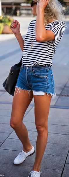 Stripes + denim.