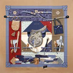 luxury-scarves.com 'Tout Cuir', Cathy Latham. 2002/03