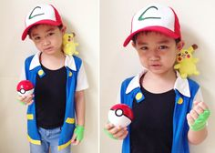 Halloween is fast approaching and when I asked my son what he wanted to be this year, he firmly said: Ash Ketchum from Pokemon . Pokemon Costumes For Boys, Pikachu Costume Kids, Diy Costumes For Boys, Pokemon Halloween, Family Halloween Costumes, Boy Costumes, Ash From Pokemon Costume, Ash Catchem Costume, Pokemon Diy Costume
