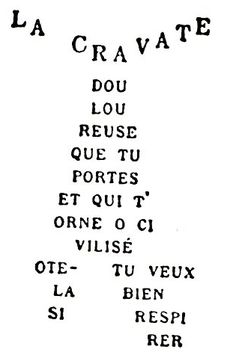 Great even for vocab with simple (les poetic) descriptions...calligrammes- La Cravate - Apollinaire