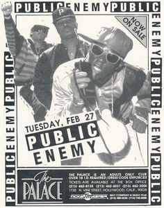 1990 Public Enemy concert flyer
