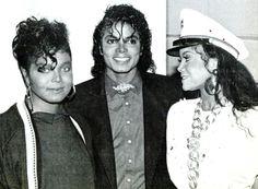 janet jackson latoya jackson | Janet Jackson,Michael Jackson,Latoya Jackson_Control Era 1986 Photo by ...