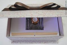 Aromatizador de ambiente em linda embalagem personalizada - por Luciana Gritti