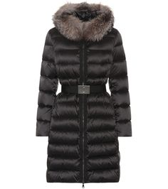 Moncler - Tinuviel down coat with fur | mytheresa.com